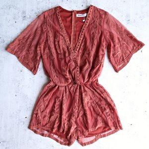 Rust Lace Romper